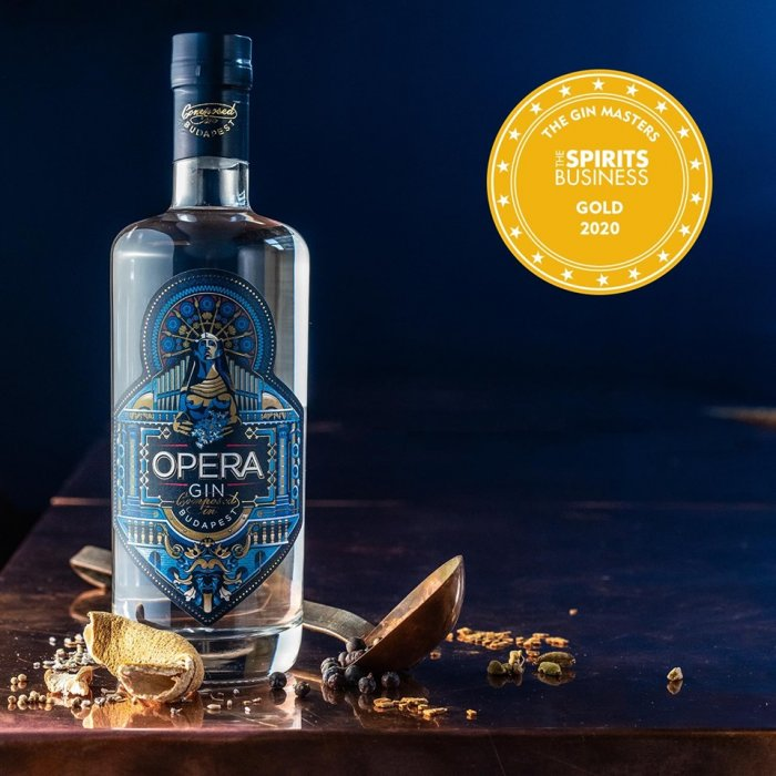 Opera Gin Budapest wins gold medal at Gin Masters 2020