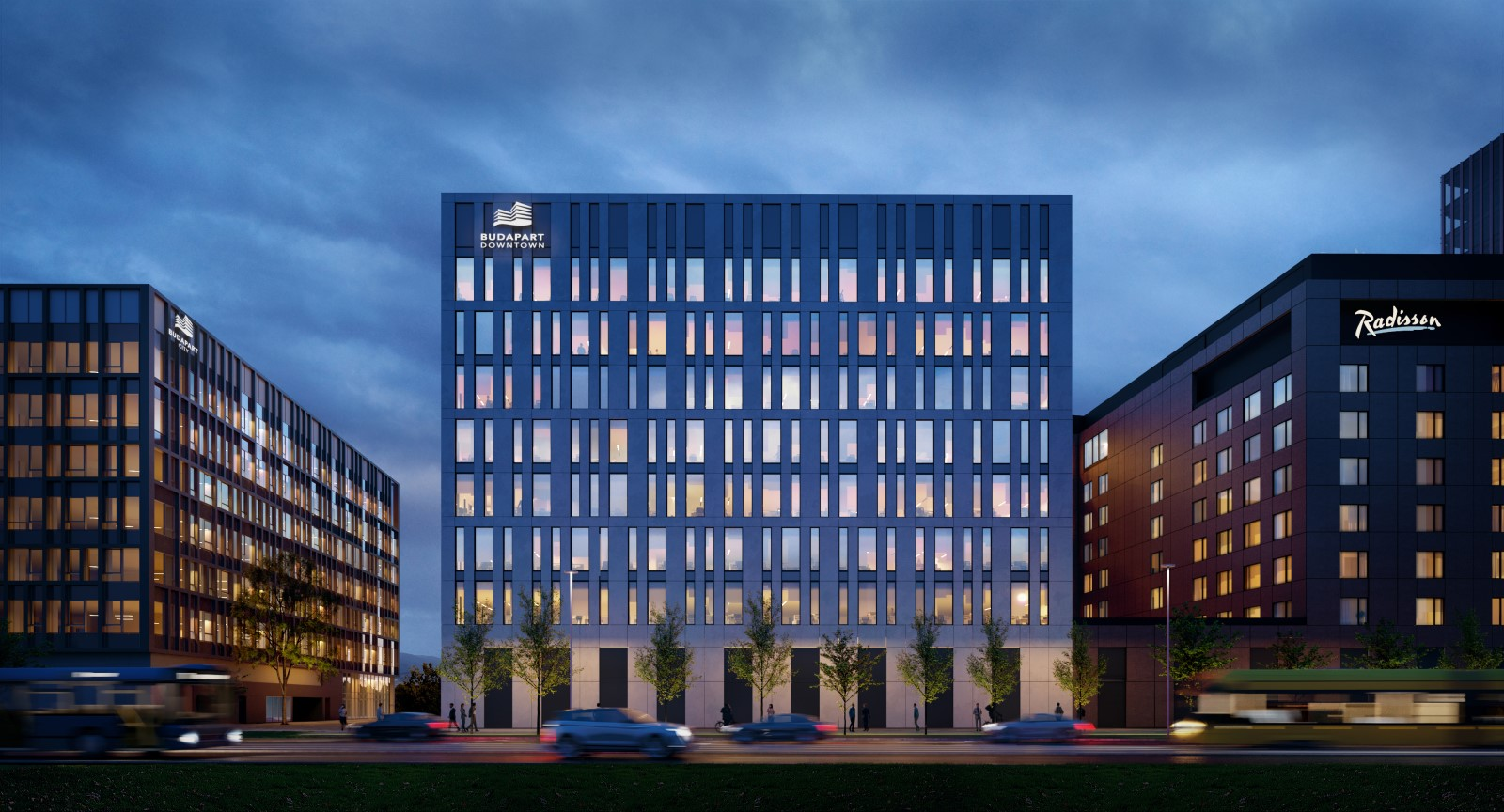 BudaPart adds mixed-function hotel/office building