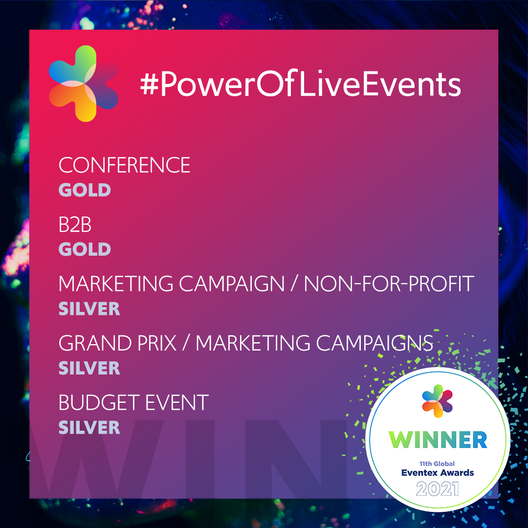 'Power of Live Events' wins 5 prizes at Eventex